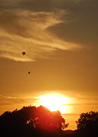 Turvey sunset with balloons